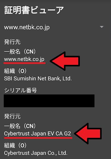 住信SBIネット銀行がフィッシングサイトか確認する方法