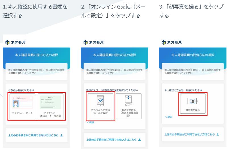 SBIネオモバイル証券の口座開設手順