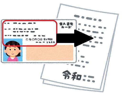 マイナンバーカードの「券面事項入力補助用暗証番号」