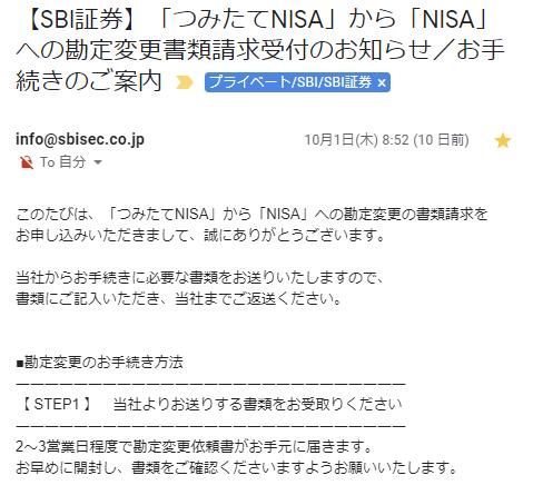 つみたてNISAから一般NISAへ勘定区分変更する手続きの流れ