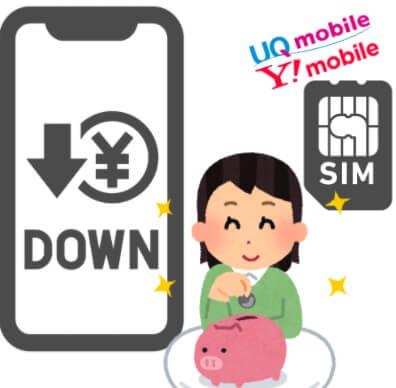 SIMフリースマホのメリット④:格安SIMで固定費節約できる