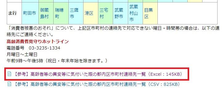 東京都の地域包括支援センター一覧