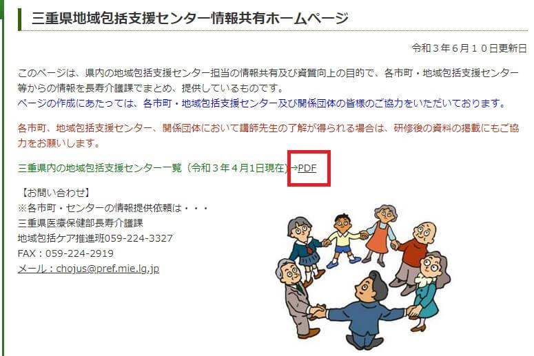 三重県の地域包括支援センター一覧