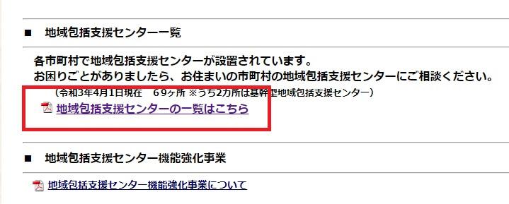 奈良県の地域包括支援センター一覧