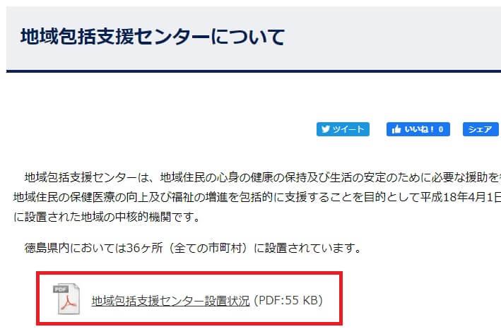 徳島県の地域包括支援センター一覧