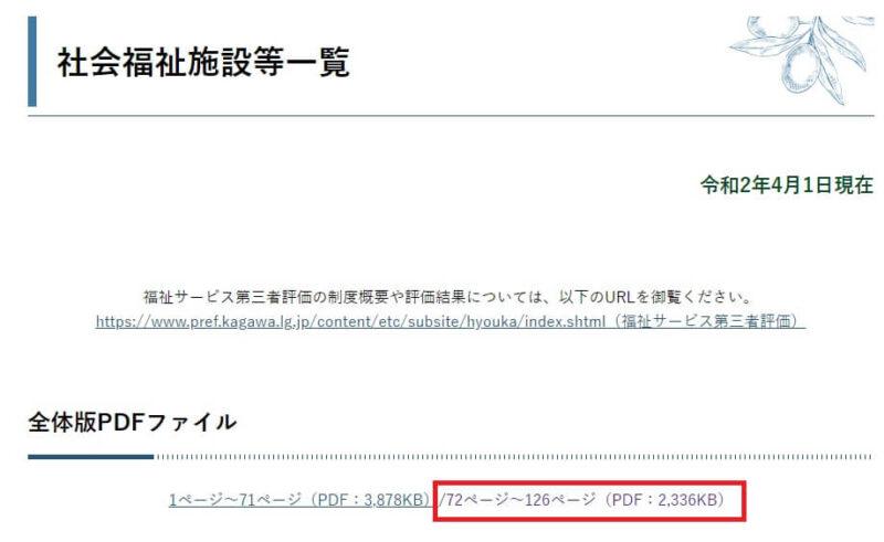 香川県の地域包括支援センター一覧
