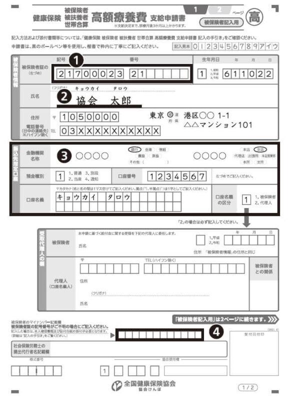 高額療養費の申請手続き方法